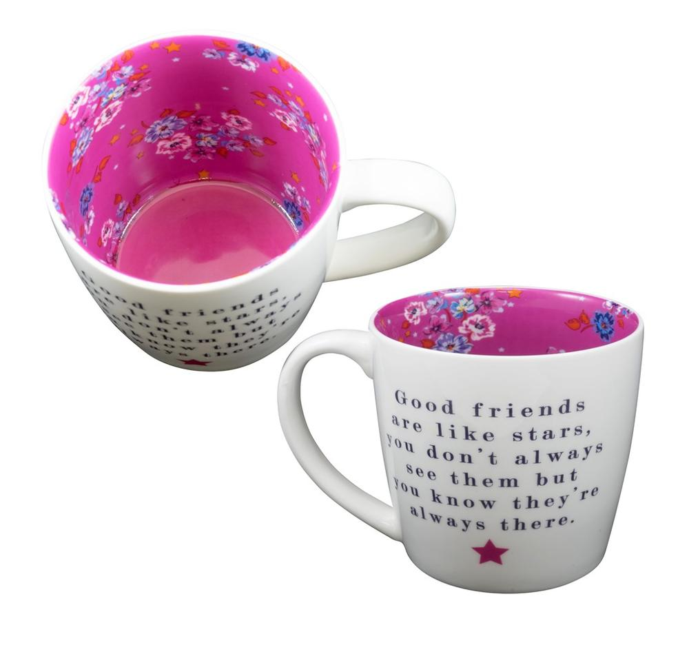 Good Friends Are Like Stars Inside Out Mug In Gift Box