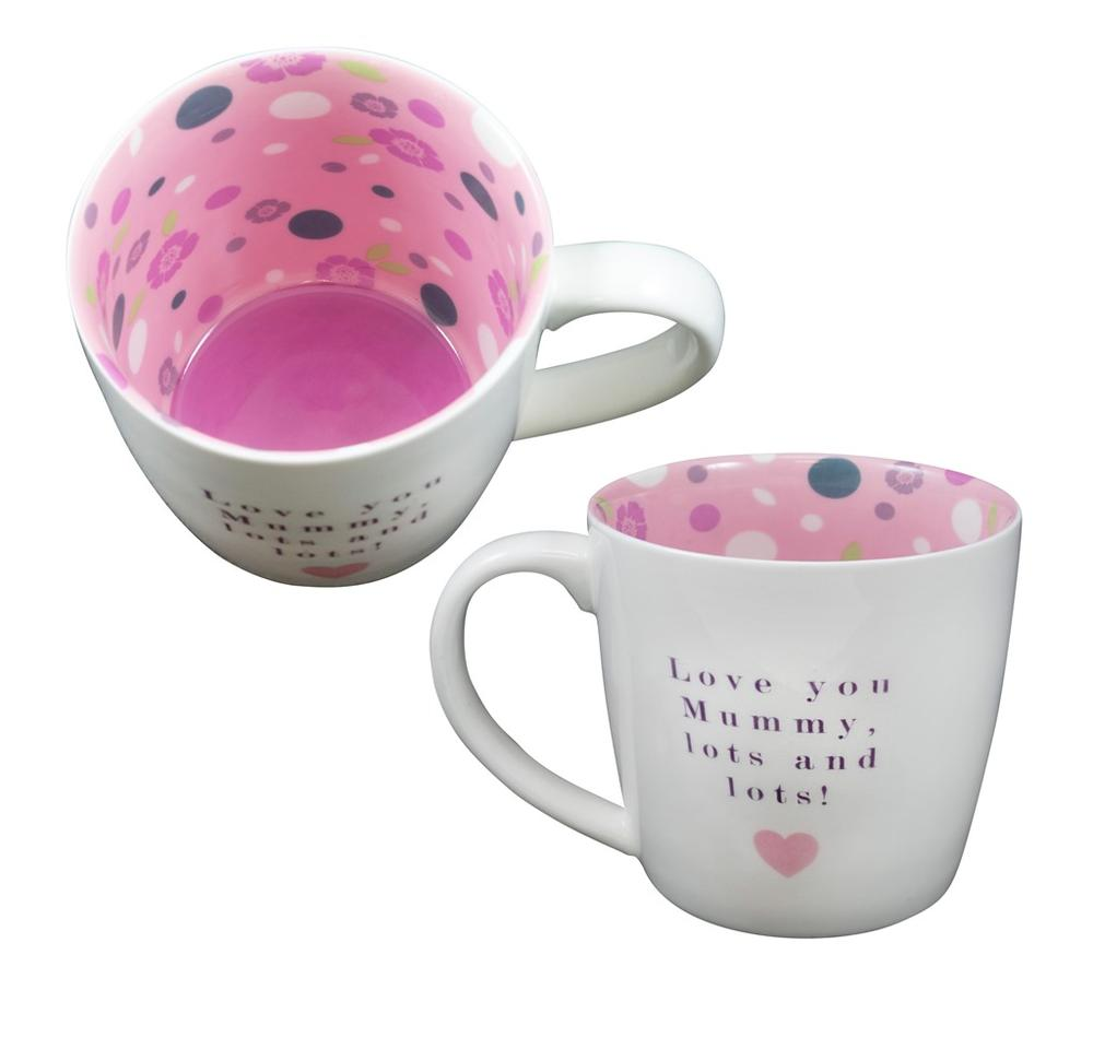 Love You Mummy Lots & Lots Inside Out Mug In Gift Box