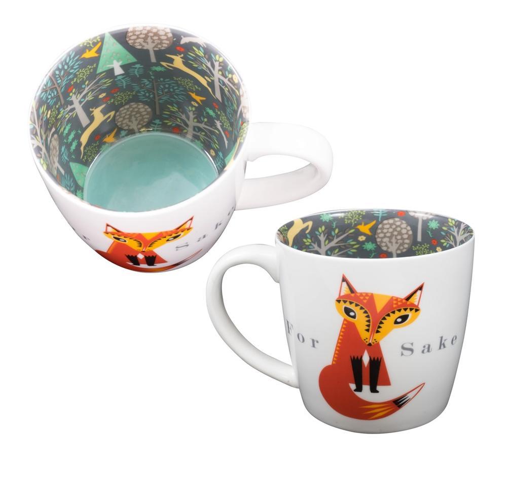 For Fox Sake Inside Out Mug In Gift Box