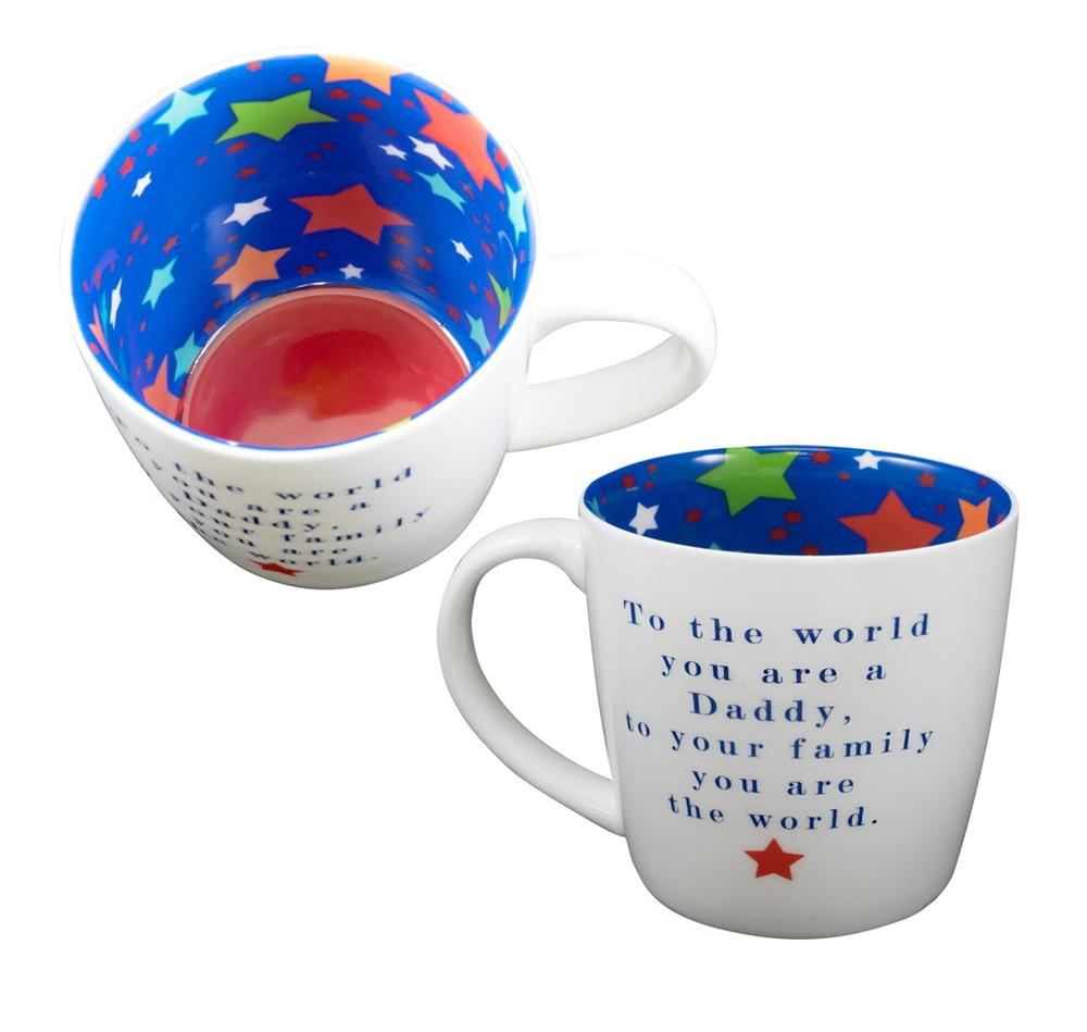 Daddy You Are The World Inside Out Mug In Gift Box