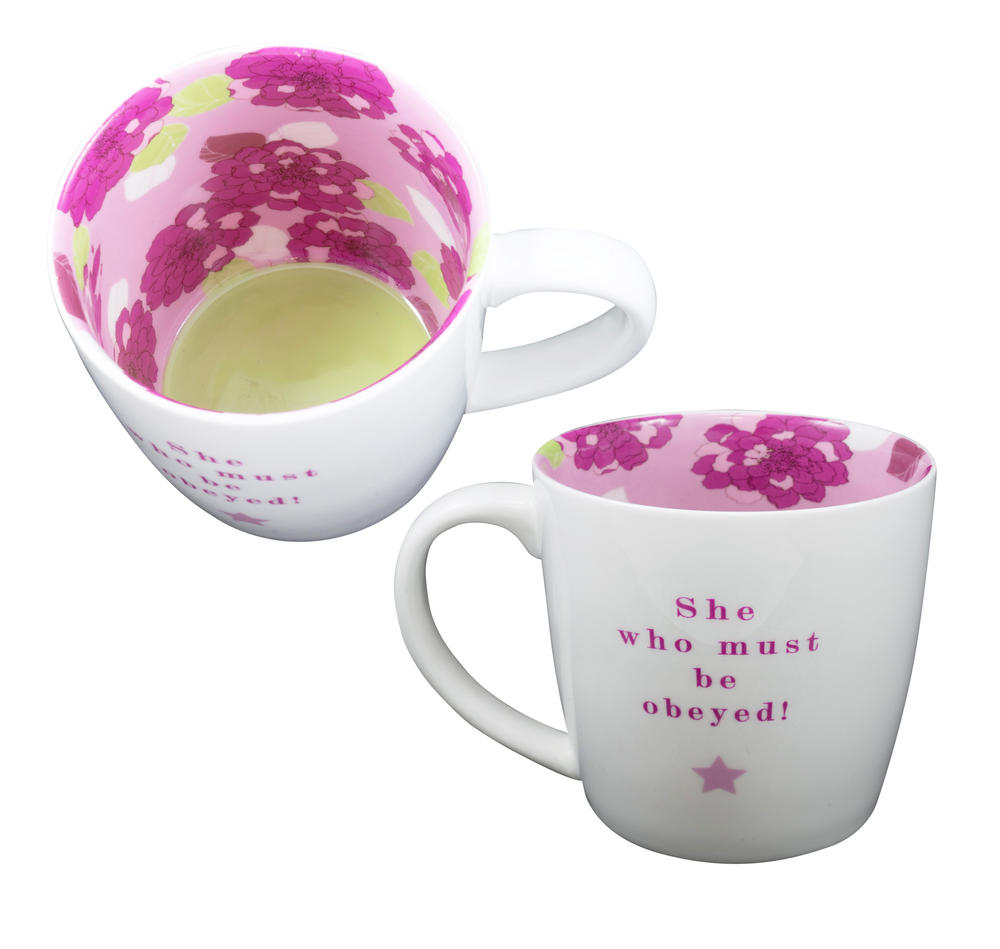 She Who Must Be Obeyed Inside Out Mug In Gift Box