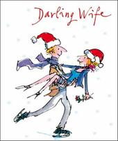 Darling Wife Quentin Blake Christmas Greeting Card