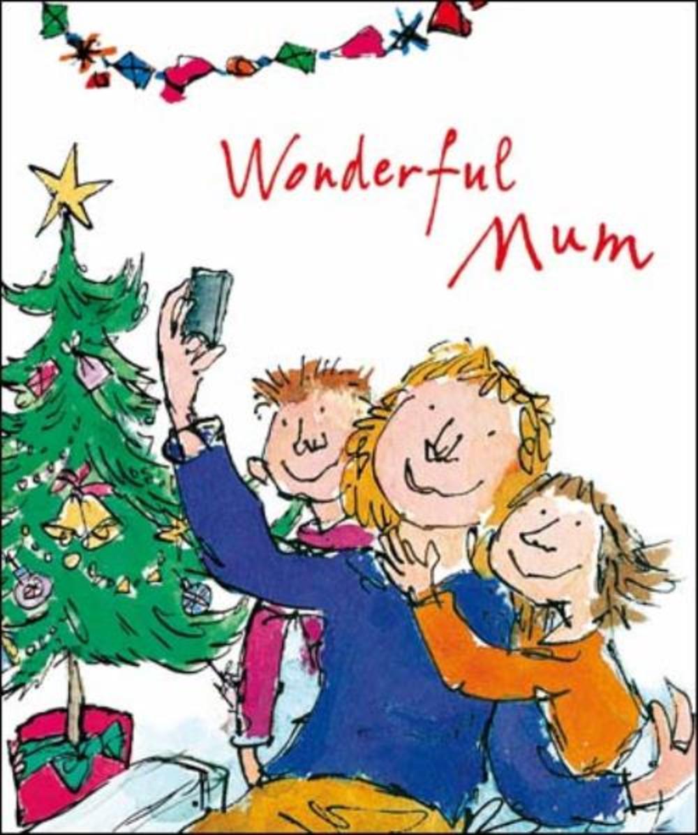 Wonderful Mum Quentin Blake Christmas Greeting Card