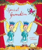 Special Grandson Quentin Blake Christmas Greeting Card