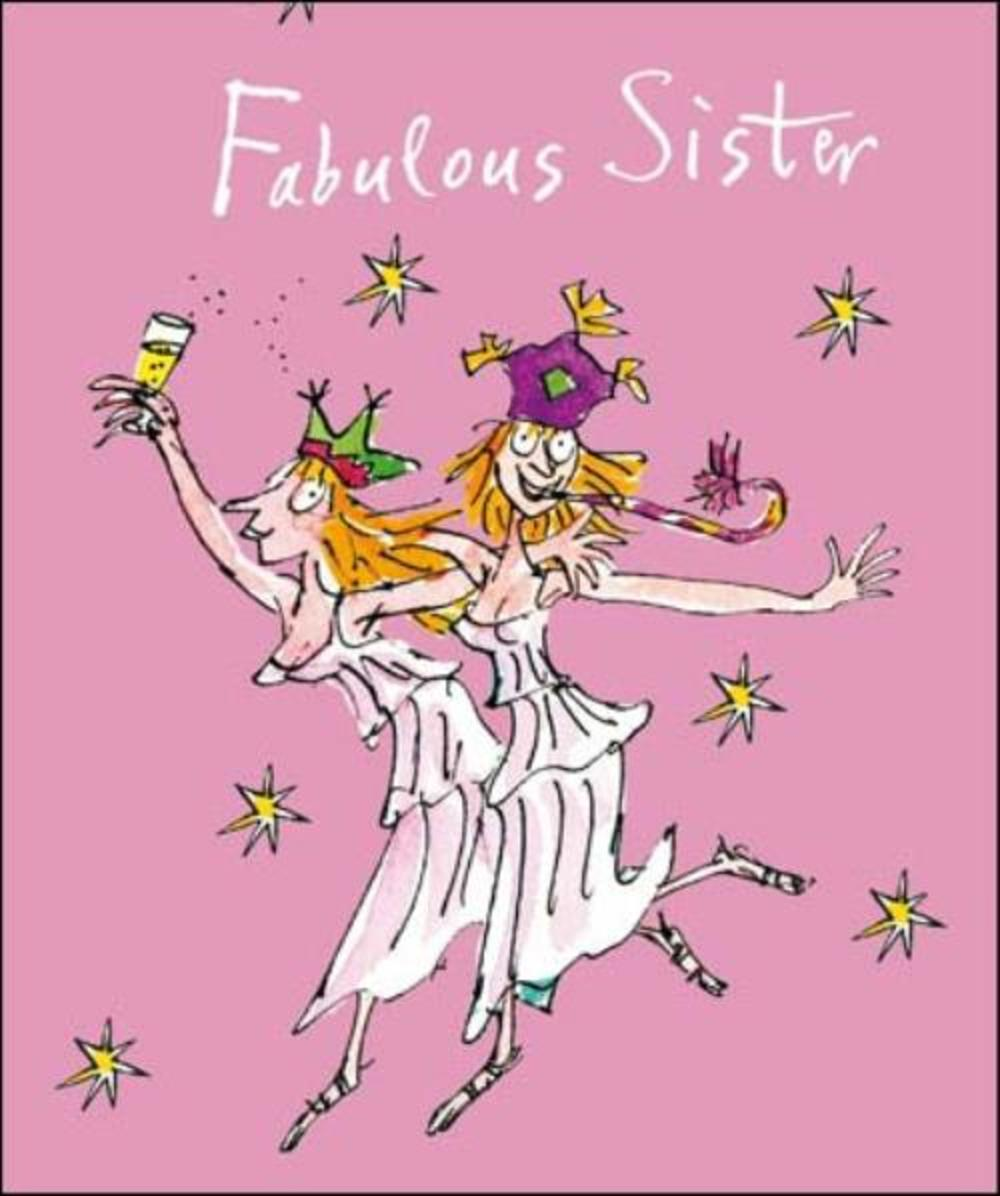 Fabulous Sister Quentin Blake Christmas Greeting Card