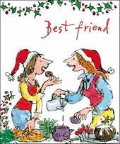 Best Friend Quentin Blake Christmas Greeting Card