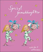 Special Granddaughter Quentin Blake Christmas Greeting Card