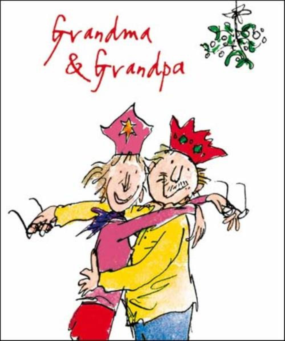 Grandma & Grandpa Quentin Blake Christmas Greeting Card
