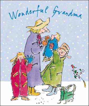 Wonderful Grandma Quentin Blake Christmas Greeting Card