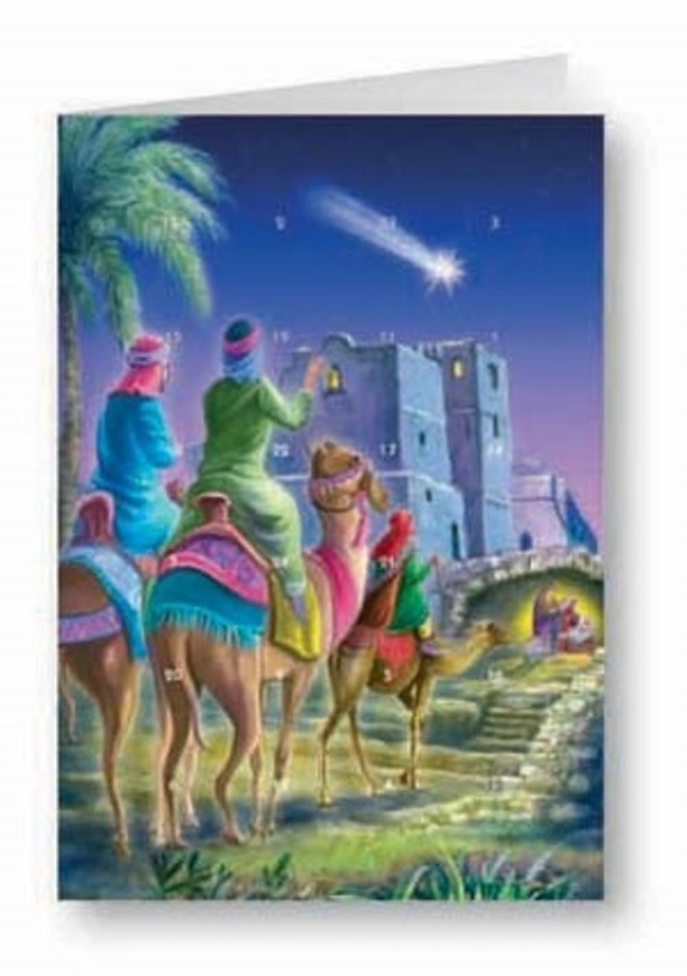 Three Kings Advent Calendar Christmas Greeting Card
