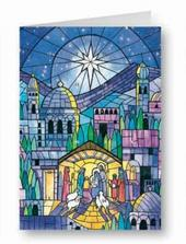 Bethleham Advent Calendar Christmas Greeting Card