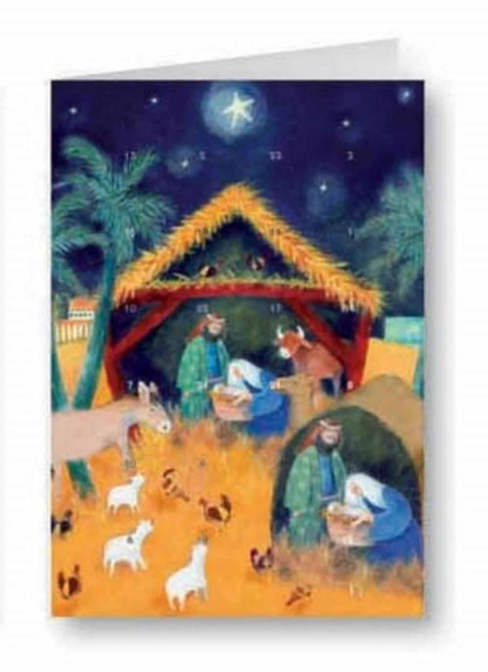 Baby Jesus Advent Calendar Christmas Greeting Card