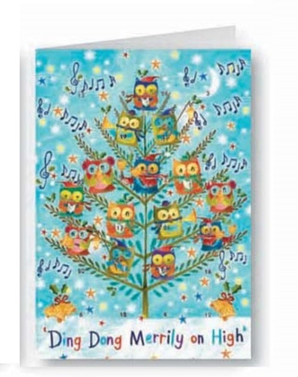 Ding Dong Merrily On High Advent Calendar Christmas Greeting Card