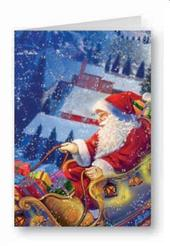 Father Christmas Advent Calendar Christmas Greeting Card