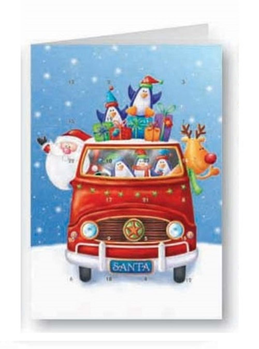 Santa's Helpers Advent Calendar Christmas Greeting Card Xmas Cards