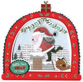 Box of 5 Snowglobe Shaped Santa Christmas Cards