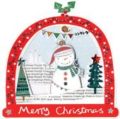 Box of 5 Snowglobe Shaped Snowman Christmas Cards