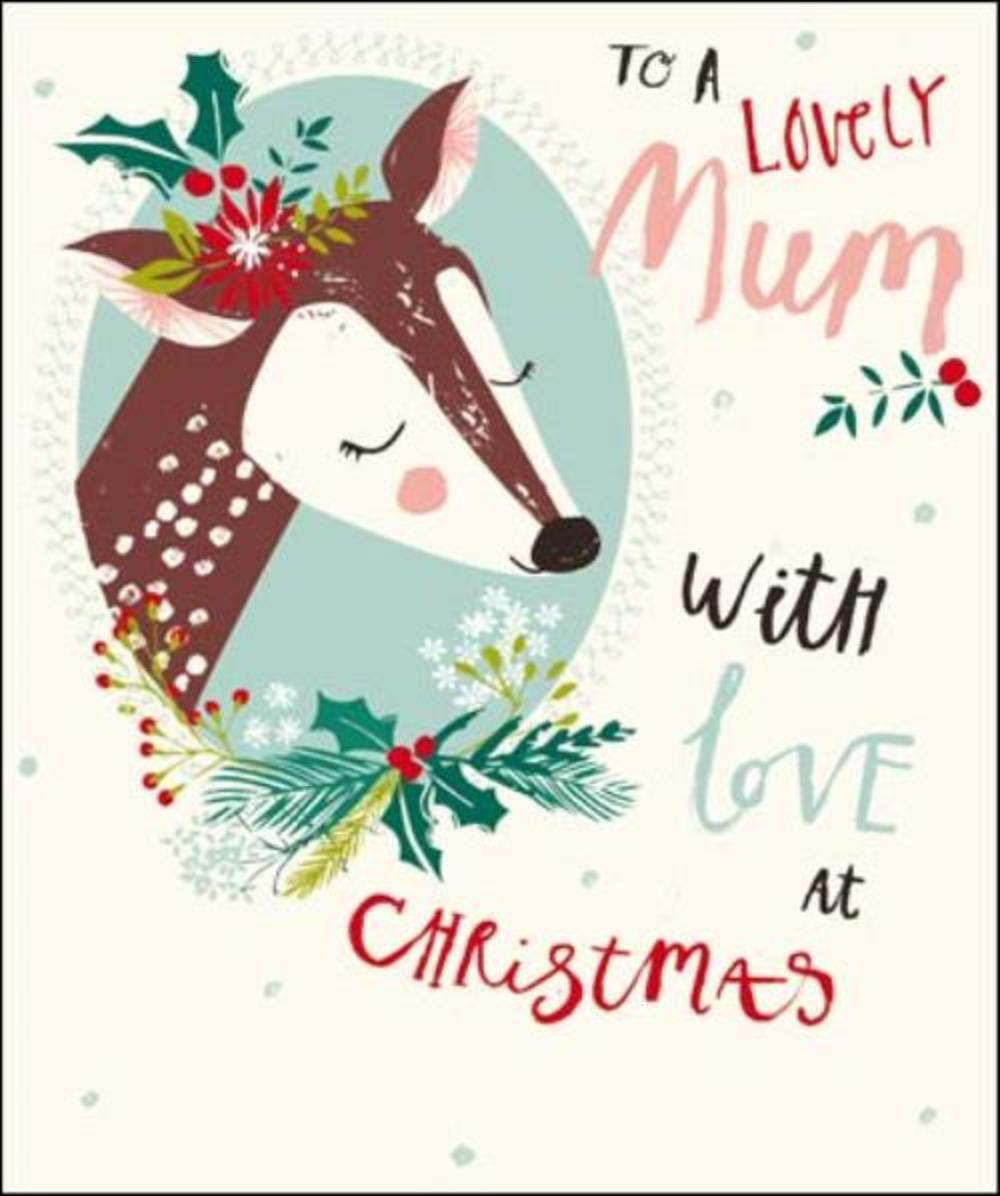 To A Lovely Mum Christmas Greeting Card