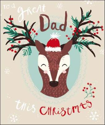 To A Great Dad Christmas Greeting Card