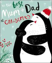 Best Mum & Dad Christmas Greeting Card