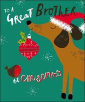 To A Great Brother Christmas Greeting Card