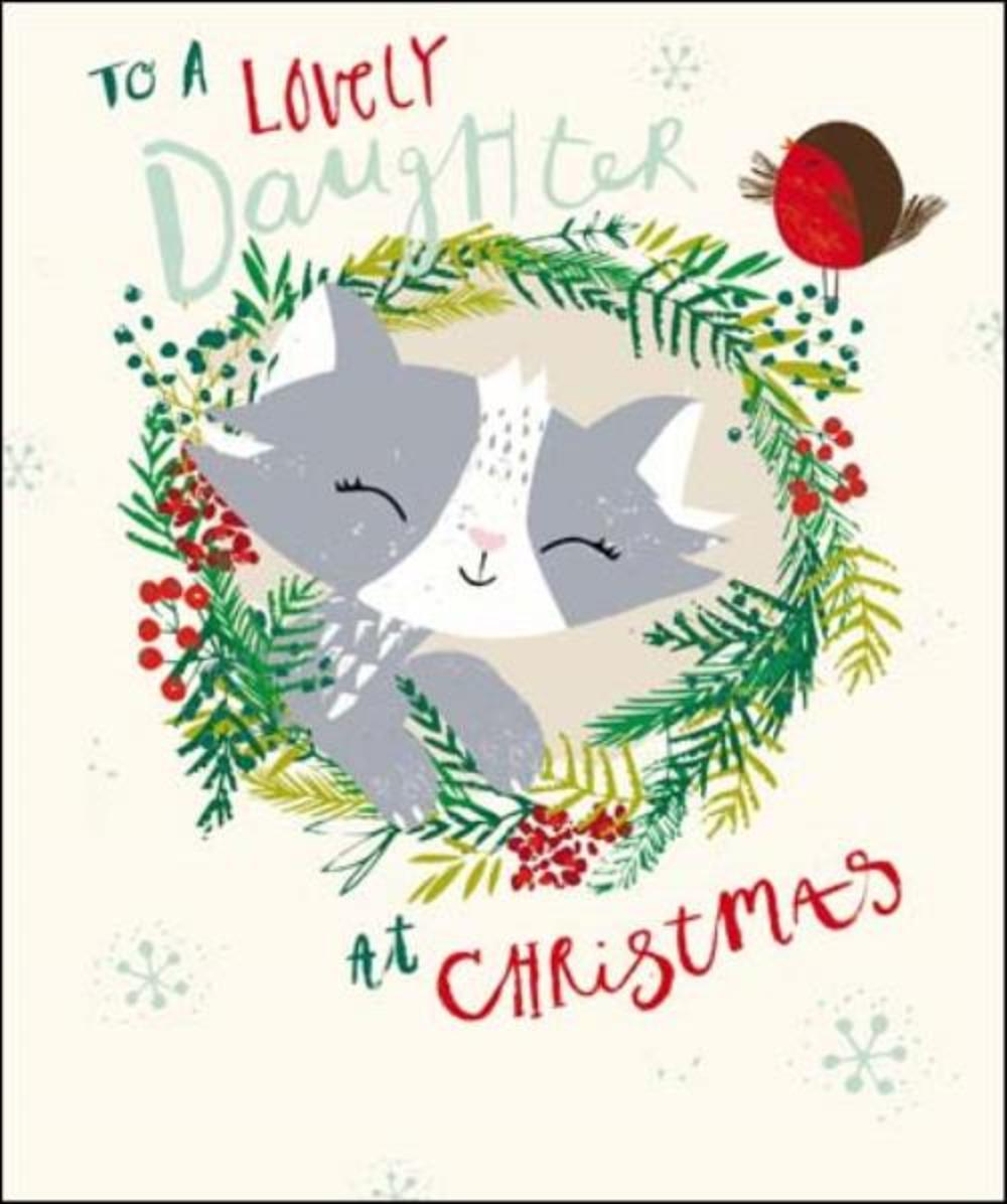 To A Lovely Daughter Christmas Greeting Card