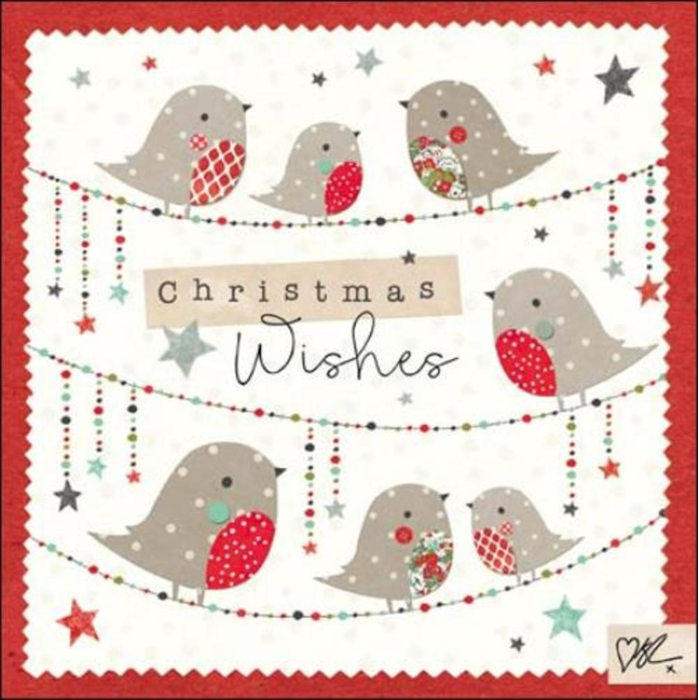 Kirsty Allsopp Robins Christmas Greeting Card