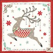 Kirsty Allsopp Rudolph Christmas Greeting Card