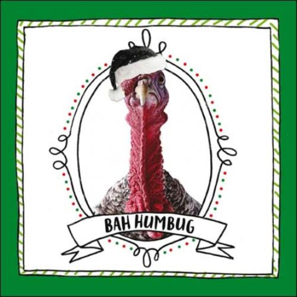 Bah Humbug Christmas Turkey Greeting Card