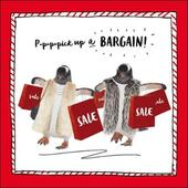 Pick Up A Bargain Penguin Christmas Greeting Card
