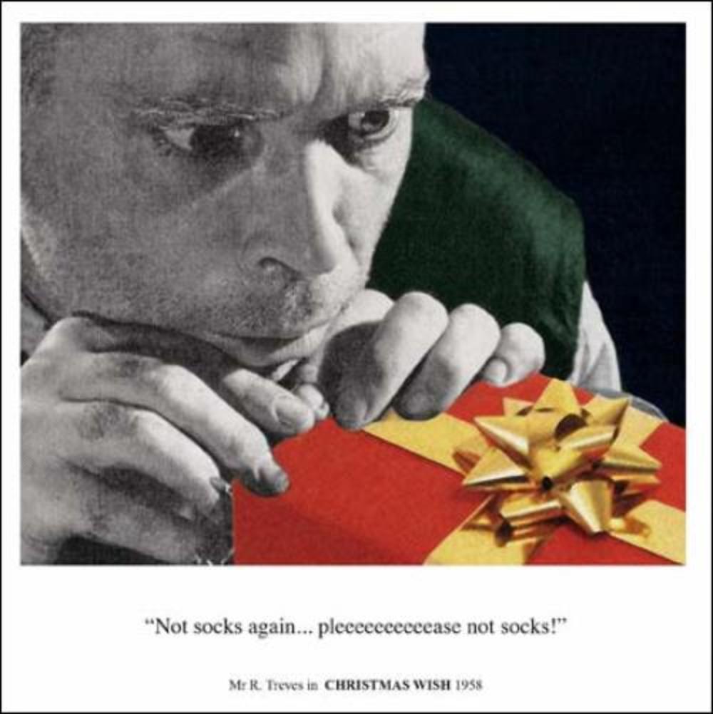 Not Socks Again Funny Christmas Greeting Card