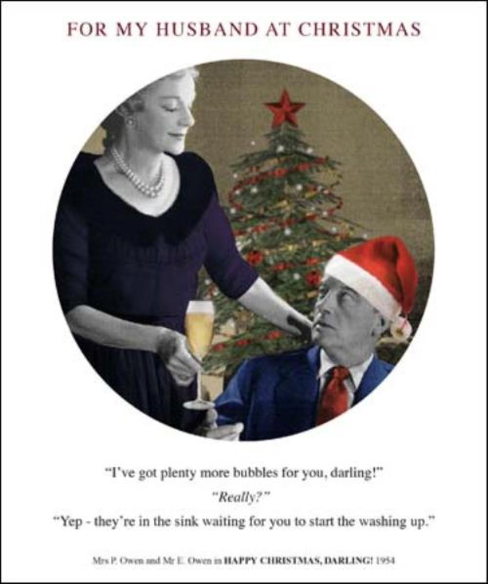 For My Husband Funny Christmas Greeting Card