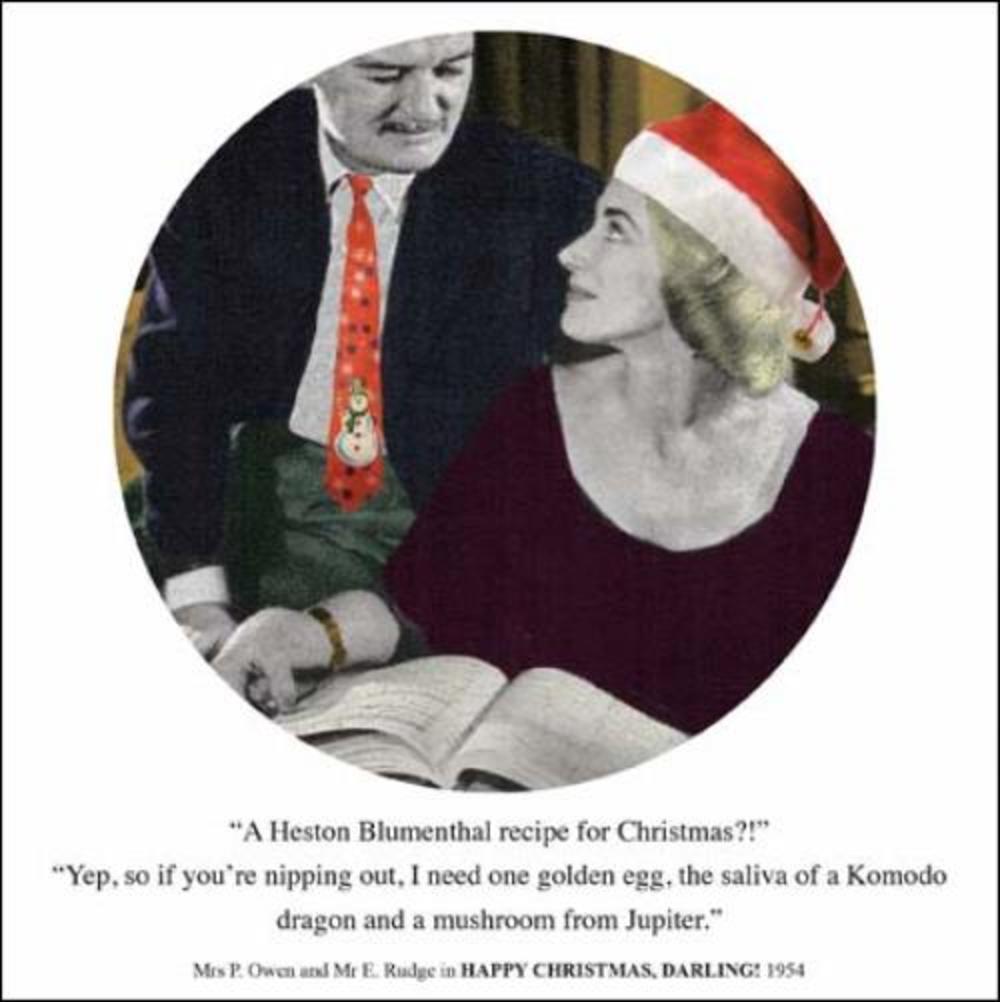 Heston Blumenthal Recipe Funny Christmas Greeting Card