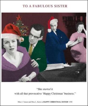 Fabulous Sister Funny Christmas Greeting Card
