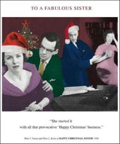 Fabulous Sister Funny Christmas Greeting Card