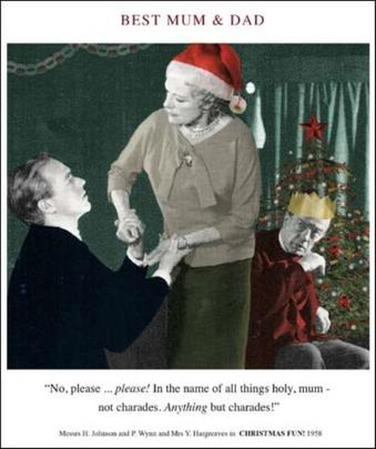 Best Mum & Dad Funny Christmas Greeting Card