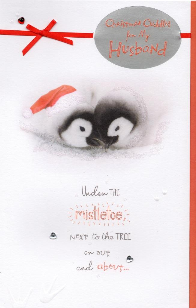 Husband Christmas Cards.Cute Husband Christmas Greeting Card