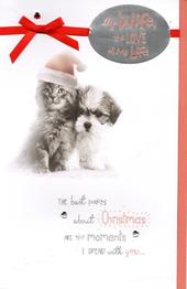 Cute Wife Love Of My Life Christmas Greeting Card