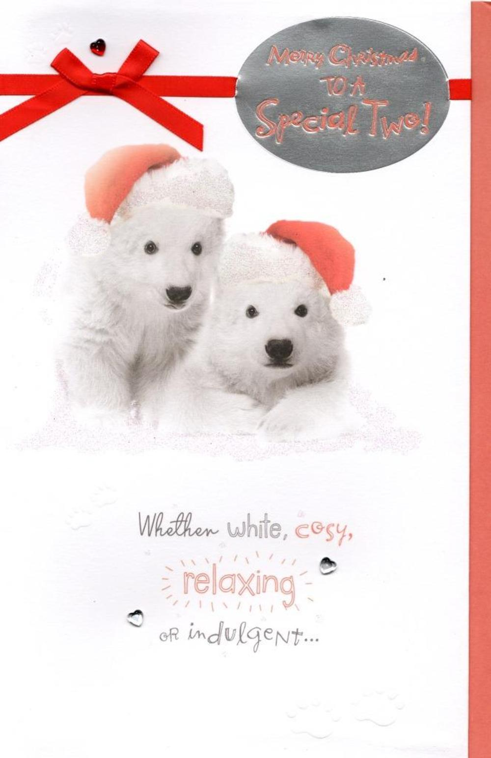 Cute To A Special Two Christmas Greeting Card