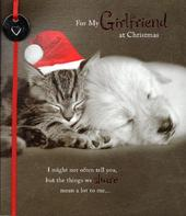 For My Girlfriend Cute Christmas Greeting Card