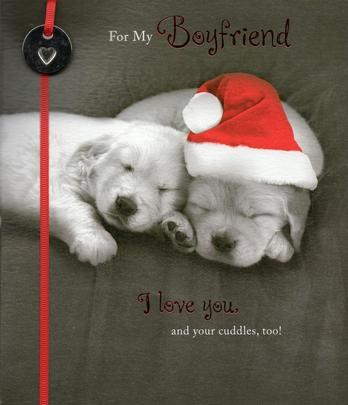 For My Boyfriend Cute Christmas Greeting Card