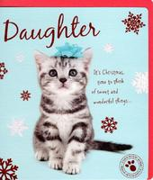 Daughter Cute Studio Pets Christmas Greeting Card