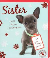 Sister Cute Studio Pets Christmas Greeting Card