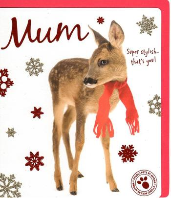 Mum Cute Studio Pets Christmas Greeting Card
