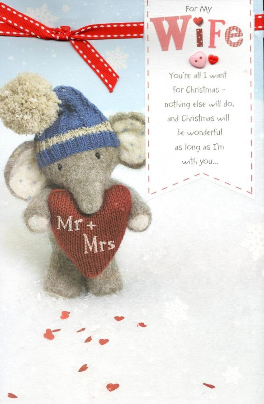 Wife Elliot & Buttons Christmas Greeting Card