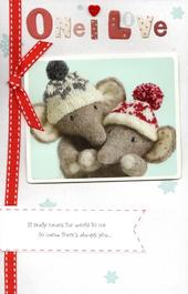 One I Love Elliot & Buttons Christmas Greeting Card