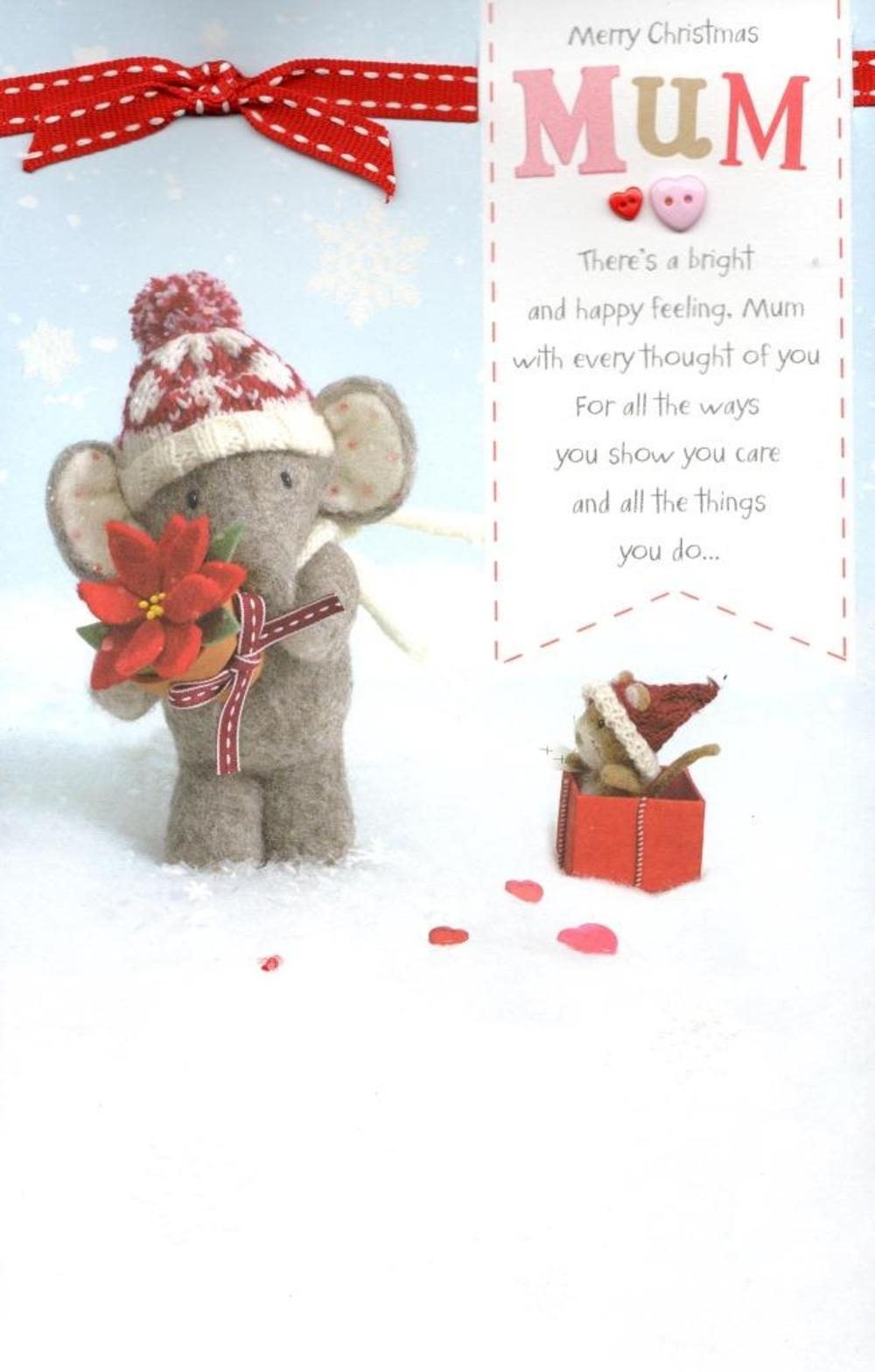 Mum Elliot & Buttons Christmas Greeting Card