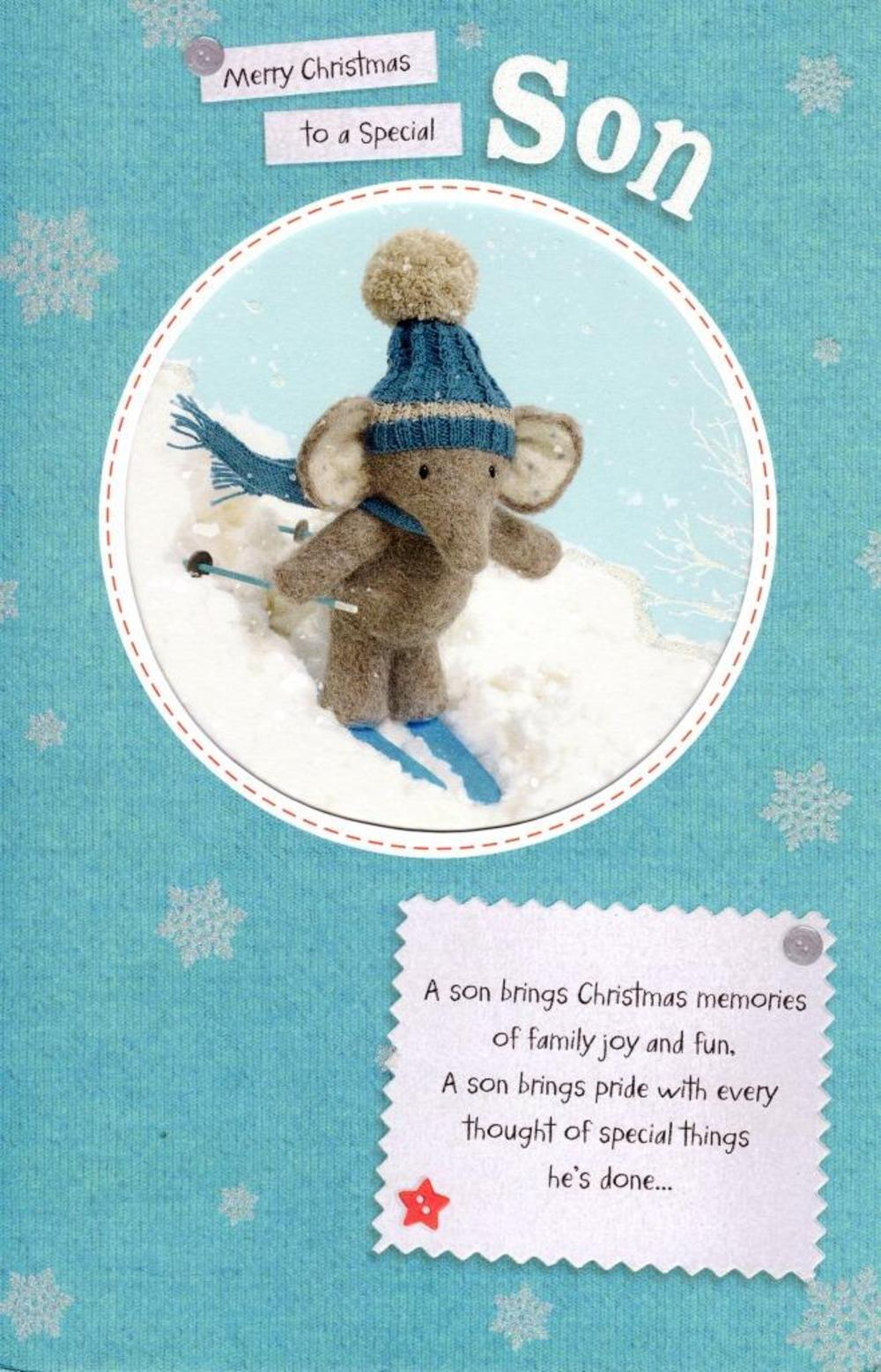 Son Elliot & Buttons Christmas Greeting Card