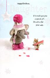 Daughter Elliot & Buttons Christmas Greeting Card
