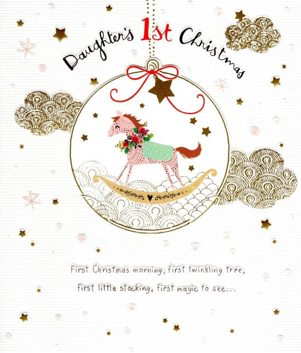 Daughter's 1st Christmas Greeting Card